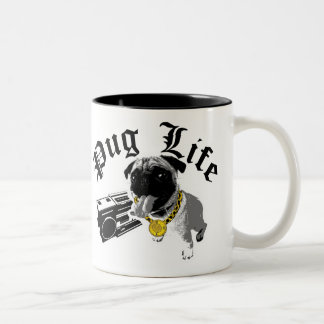 $17.95 Two Tone Coffee Mug Pug Life