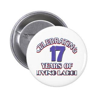 17 años de diseños del cumpleaños pin