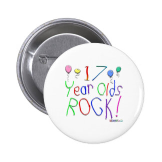 ¡17 años de la roca! Botón Pins