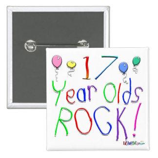 ¡17 años de la roca! pins