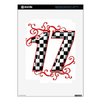 17 auto racing number decal for iPad 3