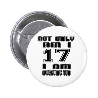 17 Birthday Designs Button