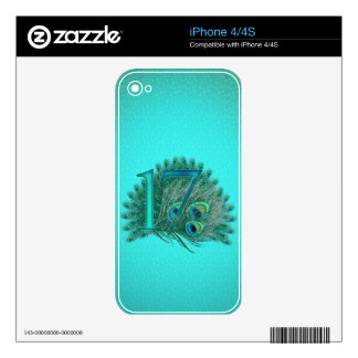 17 birthday template age number iPhone 4/4S skins Skin For The iPhone 4