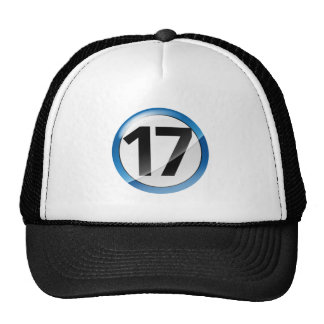 17 blue trucker hat