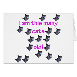 17 cabezas del gato viejas tarjeta de felicitación