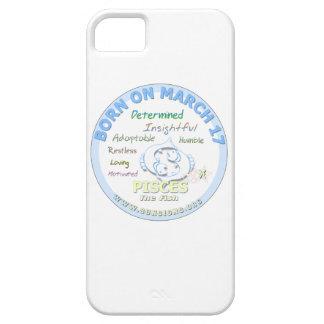17 de marzo cumpleaños - Piscis iPhone 5 Fundas