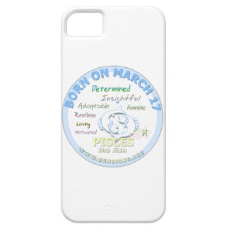 17 de marzo cumpleaños - Piscis iPhone 5 Carcasas