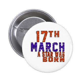 17 de marzo una estrella nació pins