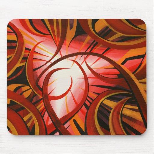 #17 de pintura abstracto tapete de ratón