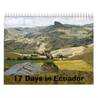 17 días en Ecuador Calendario De Pared