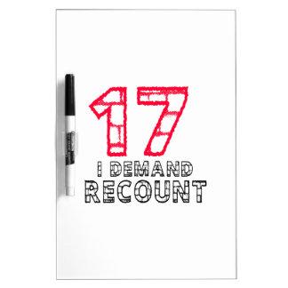 17 exijo diseños del cumpleaños del recuento pizarras blancas de calidad