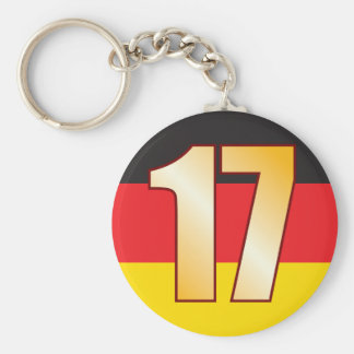 17 GERMANY Gold Keychain