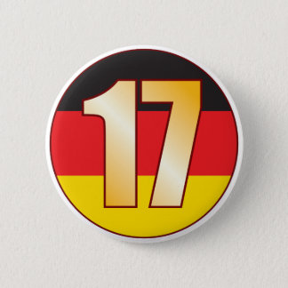 17 GERMANY Gold Pinback Button