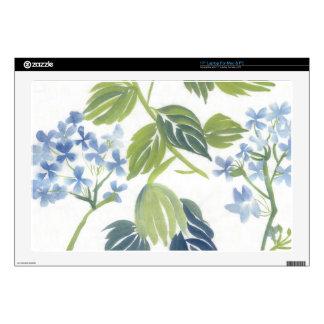 17 Inch Laptop Skin- Blue Hydrangea Laptop Decal