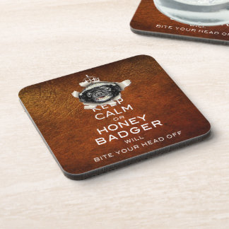 [17] Keep Calm or Honey Badger… Coasters