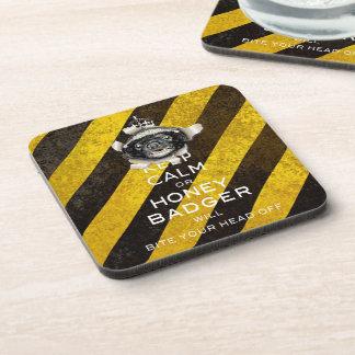 [17] Keep Calm or Honey Badger… Drink Coaster