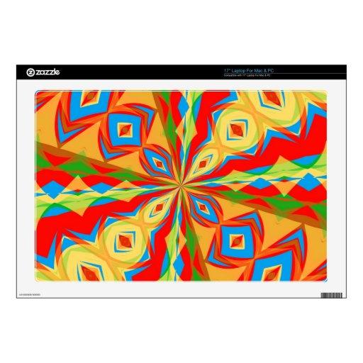 "17"" Laptop For Mac & PC Skin w/Kaleidoscope Design Decals For 17"" Laptops"