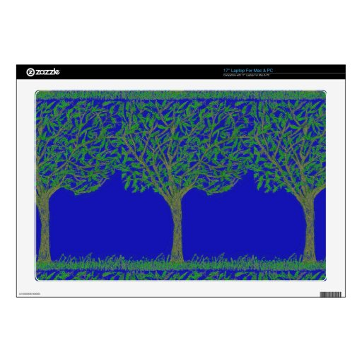 """17"""" Laptop Skin - Mac/PC with Tree and Sky Design"""