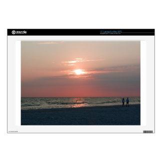 "17"" laptop skin with photo of beautiful sunset"