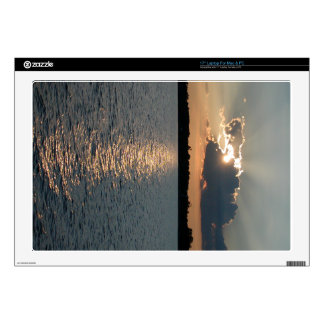 "17"" laptop skin with photo of silver-lining sunset"