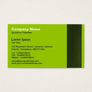 17 Lines - Martian Green Business Card