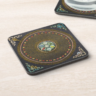 "[17] Mandala redonda del mantra de ""OM"" del tibeta Posavaso"