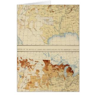 17 naturales de Canadá, Terranova 1890 Felicitación