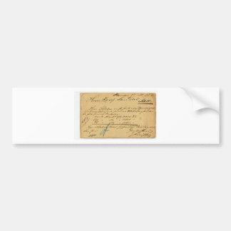 !!! 17 Nov 1882: postal card sent by Herr Scholem Car Bumper Sticker