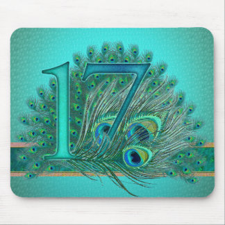 17/ Number / age / year / 17th birthday template Mouse Pad