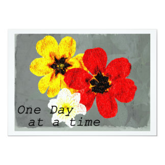 17 One Day at a Time 5x7 Paper Invitation Card