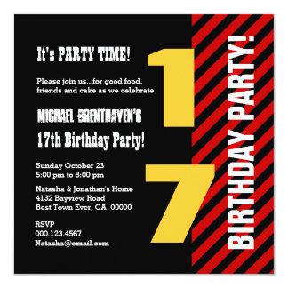 17 or Any Teen Year Birthday Modern Stripes V17Z Card