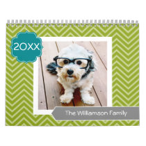 17 Photo Family Template and Colorful Patterns Calendar