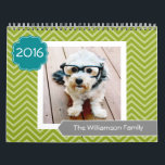 """17 Photo Template Personalized - CAN CHANGE YEAR Calendar<br><div class=""""desc"""">Add your favorite photos to make a modern photography calendar. Each month includes room for a full photo. There is also a space on the front and the back to customize with more pictures.</div>"""