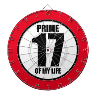 17 - prime of my life dartboard with darts