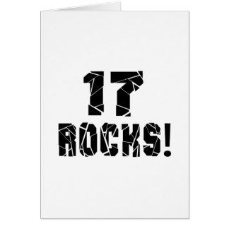 17 Rocks Birthday Designs Card