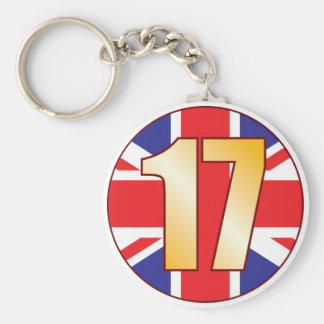 17 UK Gold Keychain