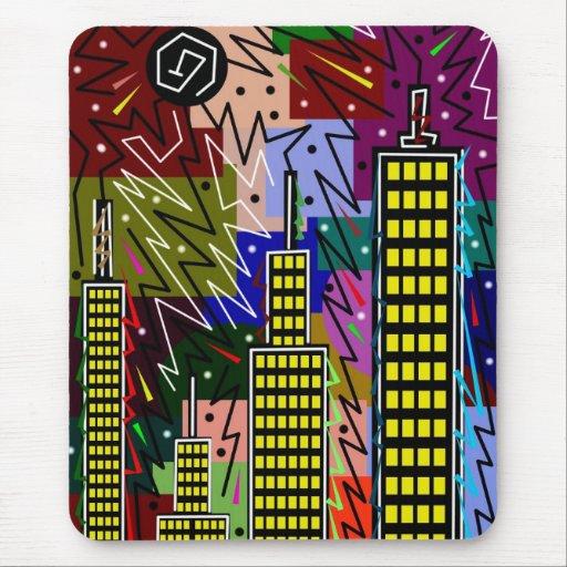 17 urbanos abstractos alfombrillas de ratones