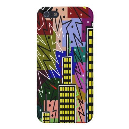 17 urbanos abstractos iPhone 5 carcasas