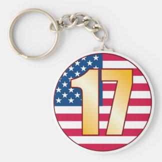 17 USA Gold Keychain