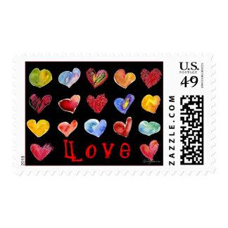 17 Valentine Hearts Postage
