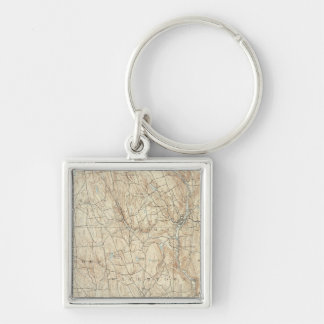 17 Waterbury sheet Silver-Colored Square Keychain