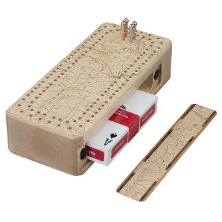 17 Waterbury sheet Wood Cribbage Board