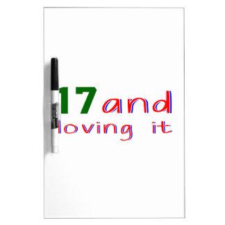17 y amor de lo pizarra
