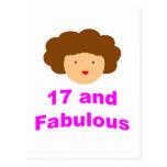 ¡17 y fabuloso! postal