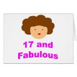 ¡17 y fabuloso! tarjeta