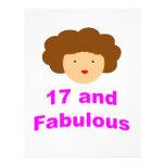¡17 y fabuloso! tarjetas publicitarias