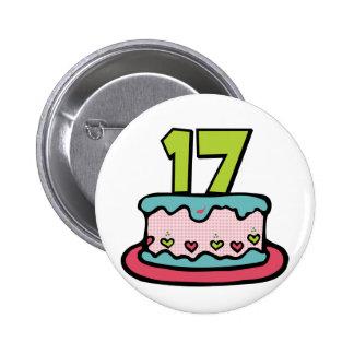 17 Year Old Birthday Cake Pin