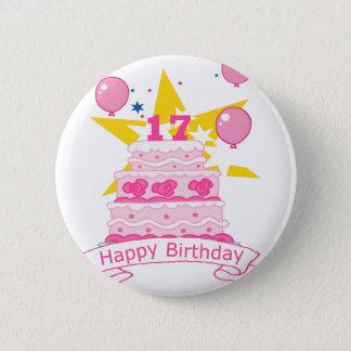 17 Year Old Birthday Cake Button