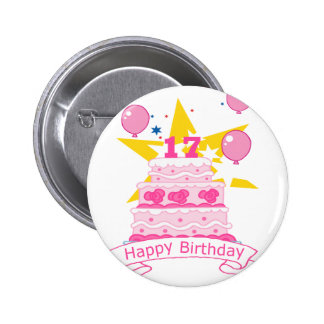 17 Year Old Birthday Cake Pins