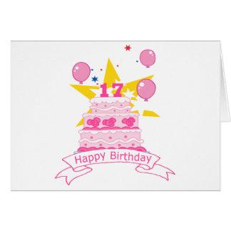 17 Year Old Birthday Cake Greeting Cards